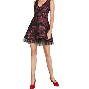NWT BCBG MaxAzaria Floral Fit & Flare Dress Sz 10